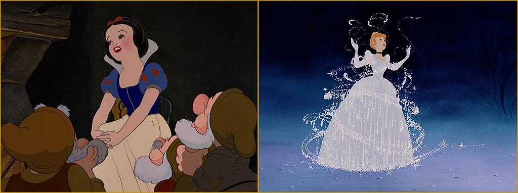 (左から)『白雪姫』、『シンデレラ』 (C)︎2020 Disney