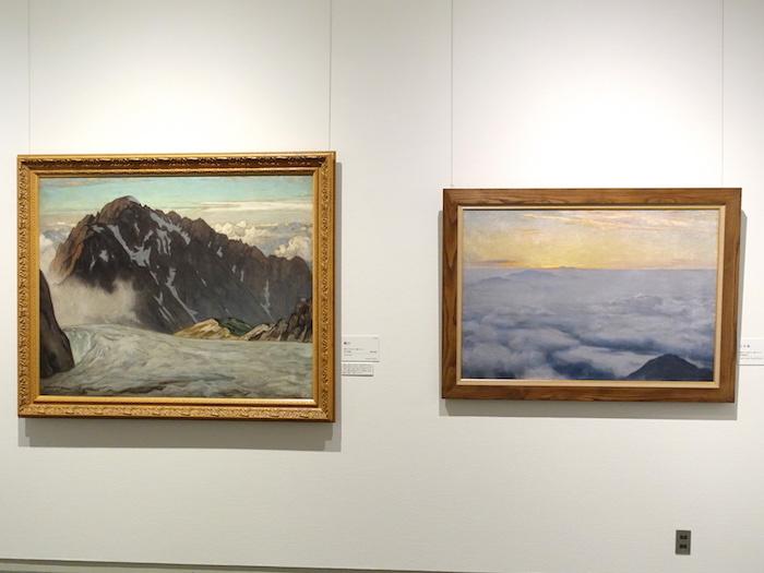 左から《劔山》昭和7年 福岡市美術館、《三千米》昭和13年 個人蔵