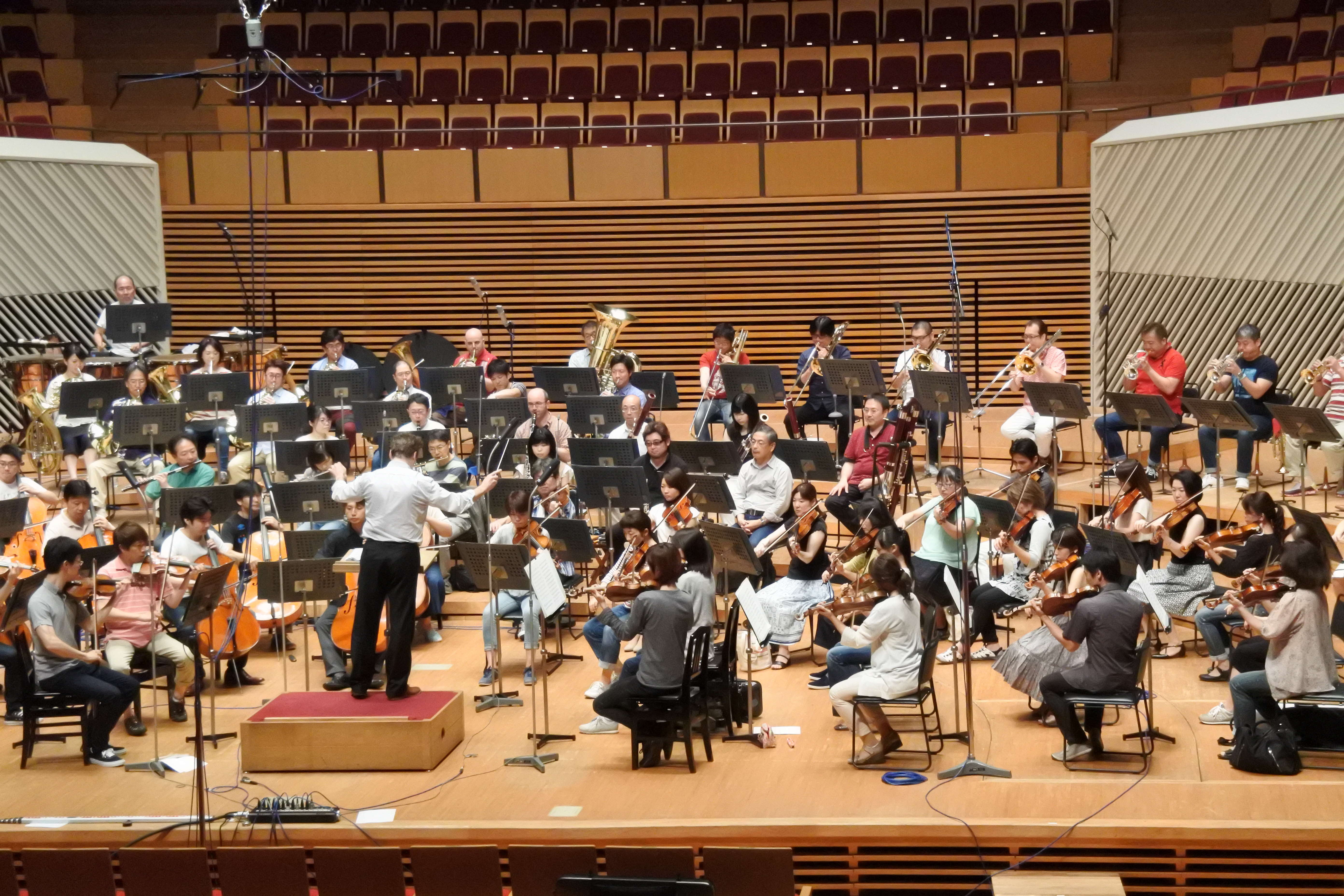 気負いなく、しかし集中してリハーサルは進められた (撮影:筆者 取材協力:東京交響楽団)