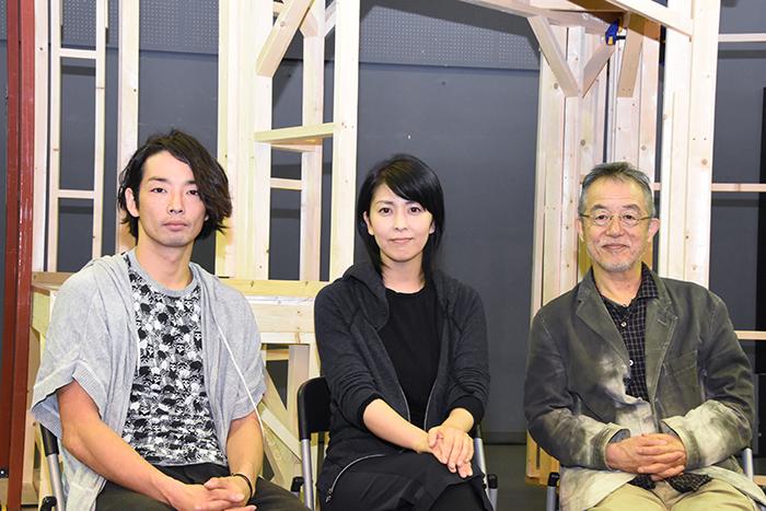(左から)森山未來、松たか子、串田和美