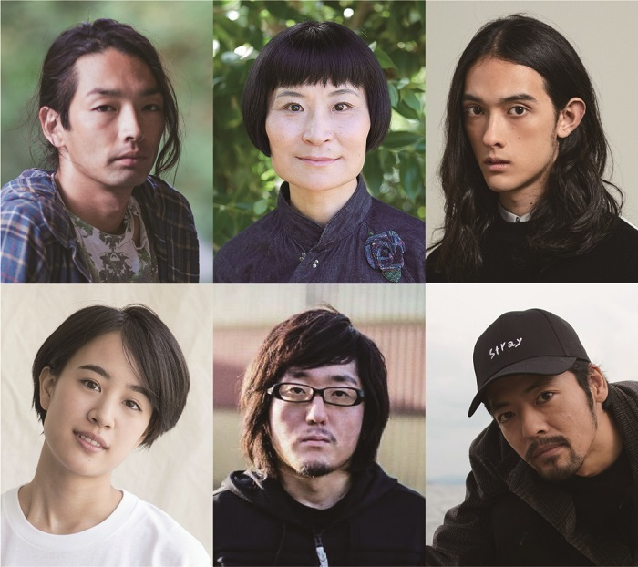 (上段左から)森山未來、片桐はいり、栗原類(下段左から)石橋静河、太田信吾、七尾旅人