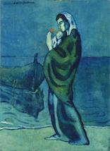 パブロ・ピカソ《海辺の母子像》1902年油彩/カンヴァスポーラ美術館蔵 ©2017-Succession Pablo Picasso-SPDA (JAPAN)