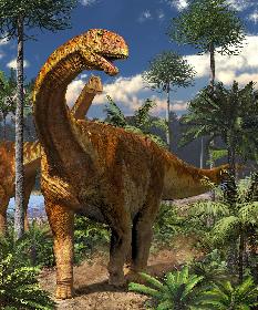 『メガ恐竜展2017』が7月より大阪で開幕 暗くした会場を懐中電灯で巡る「ナイトミュージアム」も実施