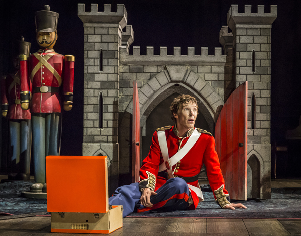 Benedict Cumberbatch (Hamlet) in Hamlet at the Barbican Theatre.  (Photo:Johan Persson)
