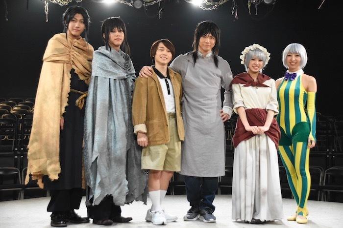 左から:小坂涼太郎、三浦海里、深澤大河、滝川広大、大西桃香<AKB48>、飯田里穂