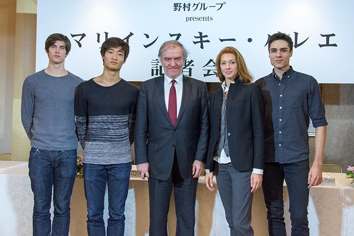 左より)ザンダー・パリッシュ、キミン・キム、ワレリー・ゲルギエフ、 エカテリーナ・コンダウーロワ、ティムール・アスケロフ (Photo:M.Terashi/TokyoMDE)