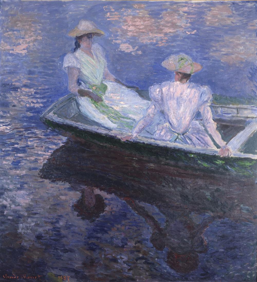 クロード・モネ《舟遊び》 1887年 油彩、カンヴァス 国立西洋美術館(松方コレクション)