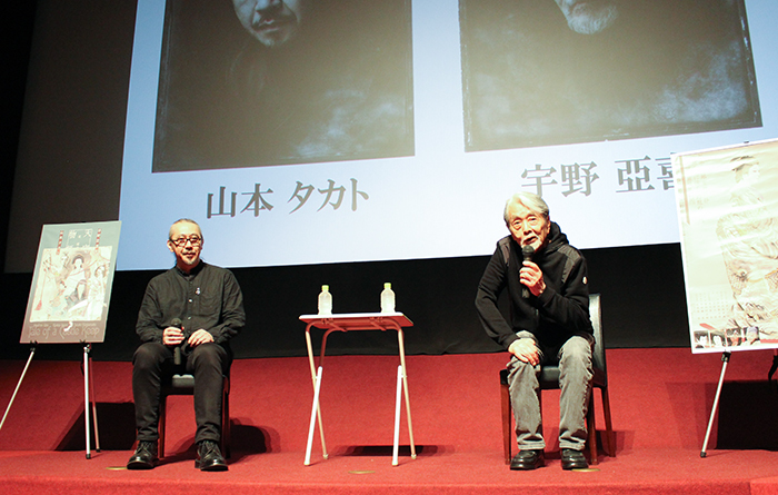 山本タカト(左)と宇野亞喜良(右)