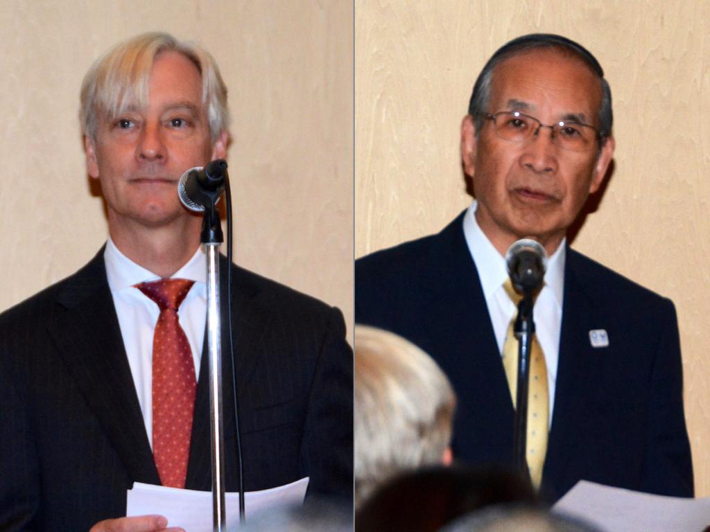 (左)駐日ノルウェー王国大使のアーリン・リーメスタ氏(右)東京都美術館の真室佳武館長