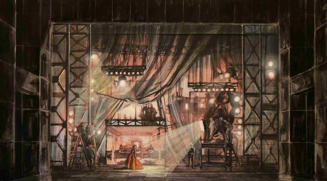 『チェネレントラ』舞台スケッチ