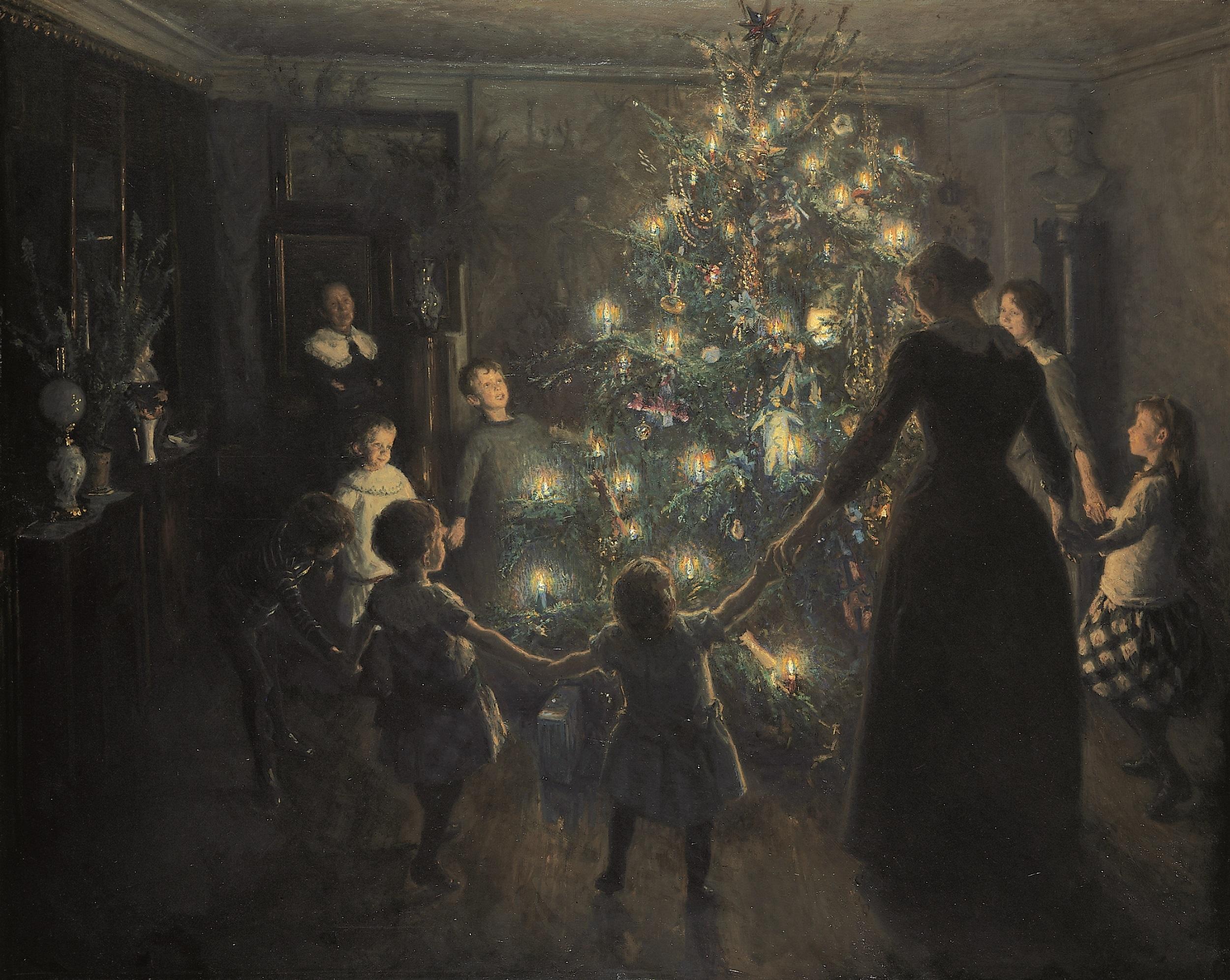 ヴィゴ・ヨハンスン 《きよしこの夜》 1891年 ヒアシュプロング・コレクション蔵  (C)  The Hirschsprung Collection