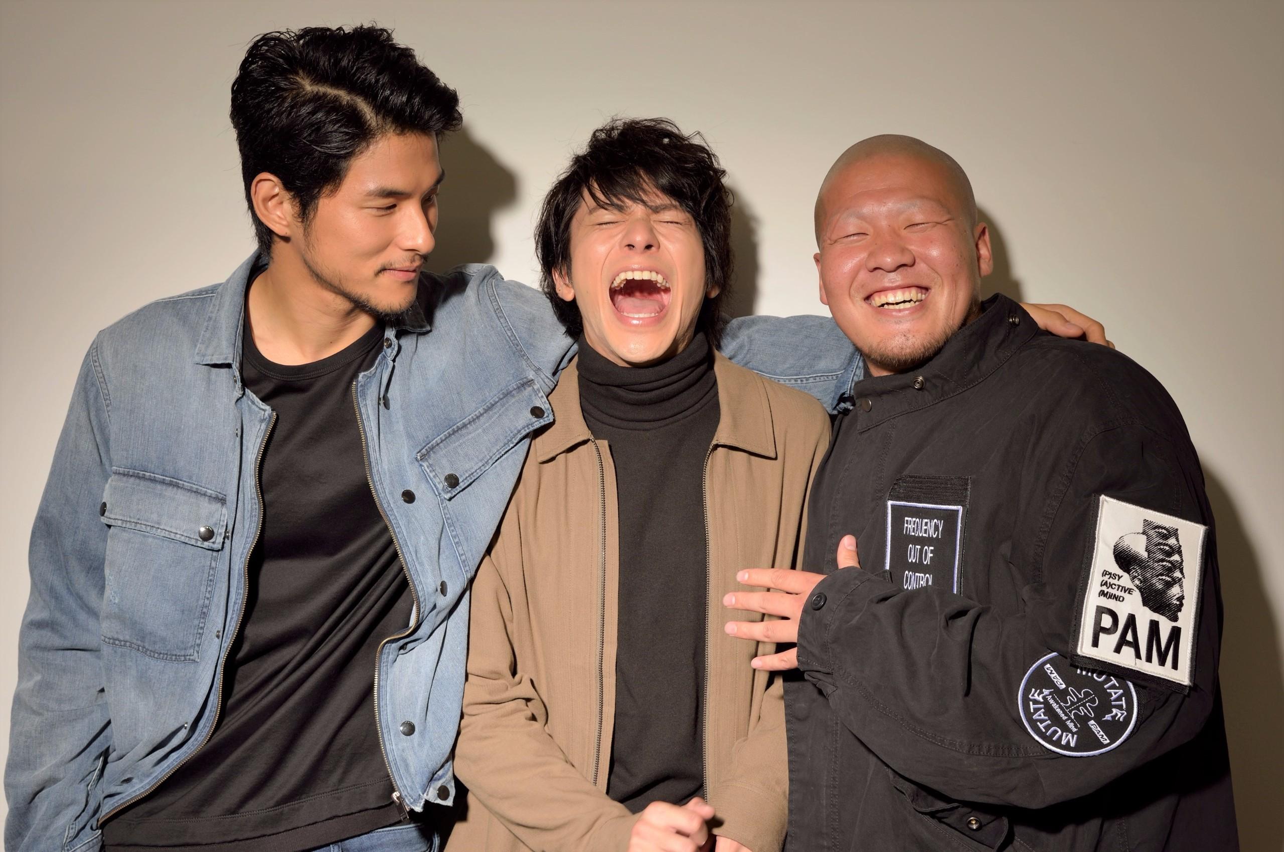 左から、鈴木貴之、山田裕貴、一ノ瀬ワタル 撮影=荒川 潤