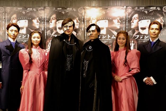 (左から)木村達成、木下晴香、城田優、加藤和樹、愛希れいか、廣瀬友祐