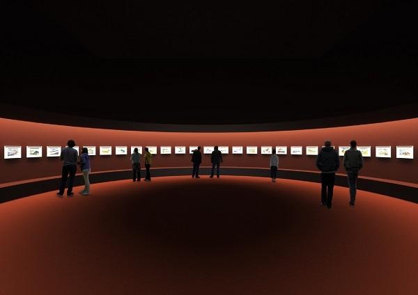 建築家・田根剛氏による展示プラン:冨嶽三十六景 *イメージは構想段階のもので変更になる場合あり