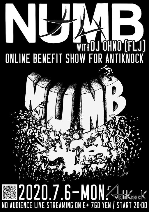 NUMB-ONLINE BENEFIT SHOW FOR ANTIKNOCK【Streaming+】