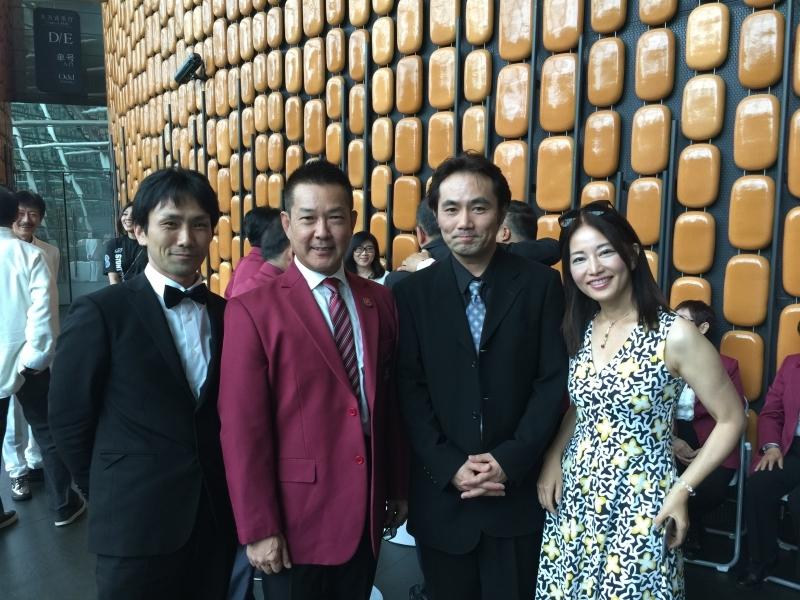 左から、下村勇二監督、ユン・ピョウ、藤田真一プロデューサー、佐伯紅緒氏(脚本)