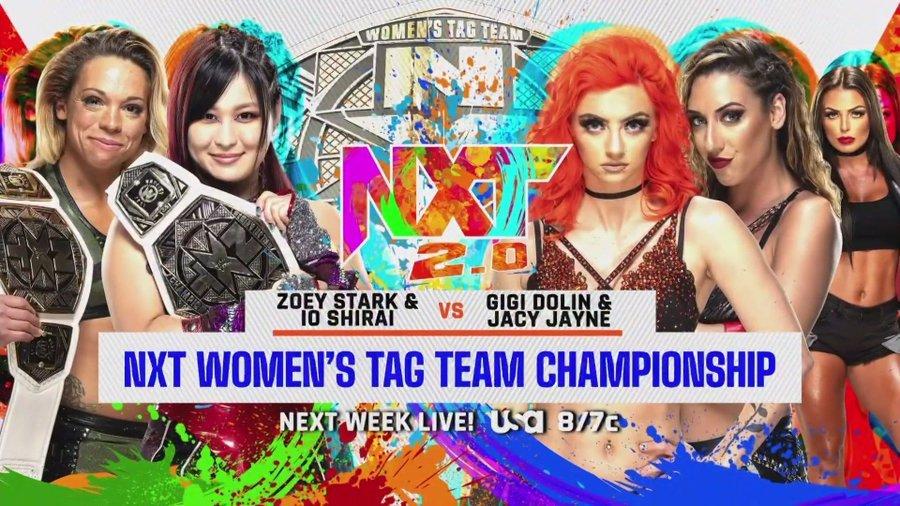 次週のNXTで、NXT女子タッグ王者の紫雷イオ&ゾーイ・スターク組とトキシック・アトラクションの王座戦が決定した (c)2021 WWE, Inc. All Rights Reserved