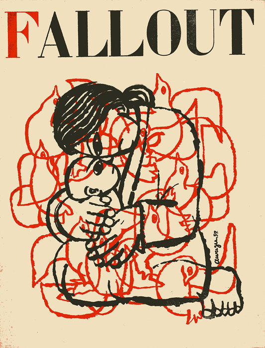 『FALLOUT』(The Japan Council Against Atomic and Hydrogen Bombs)(表紙)1957年