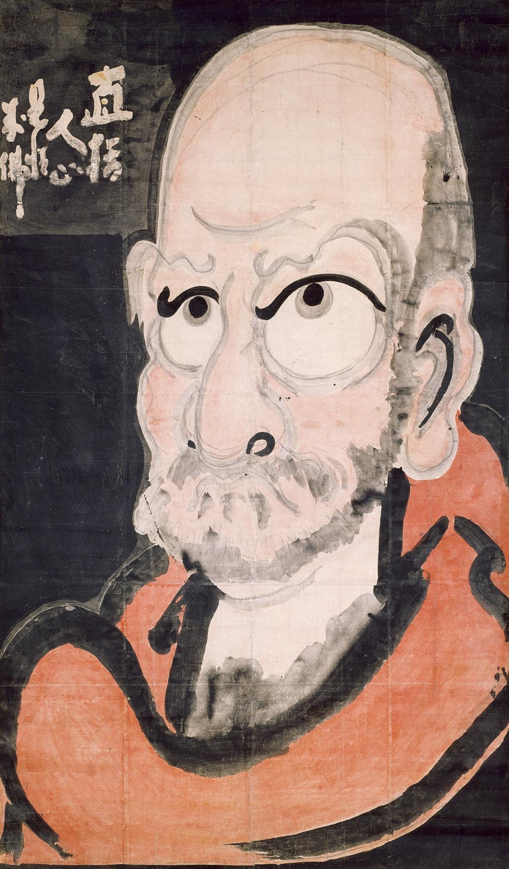 白隠慧鶴 《半身達磨図》 紙本着色 一幅 192.0×112.0 江戸時代(18世紀) 大分・萬壽寺