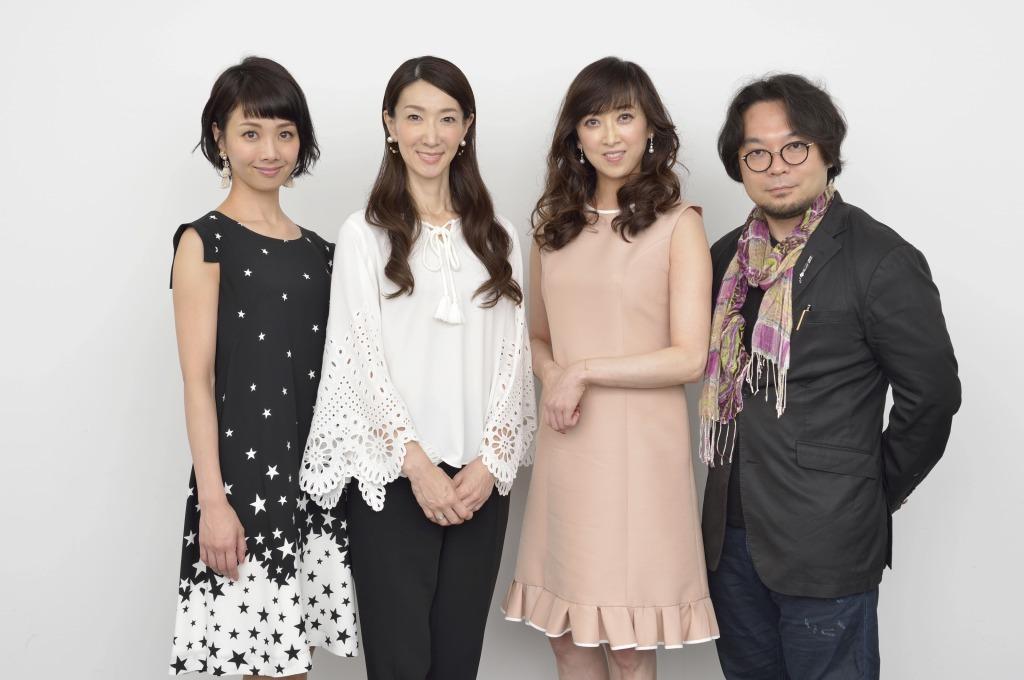 (左から)妃海風、春野寿美礼、紫吹淳、藤沢文翁  撮影=荒川潤