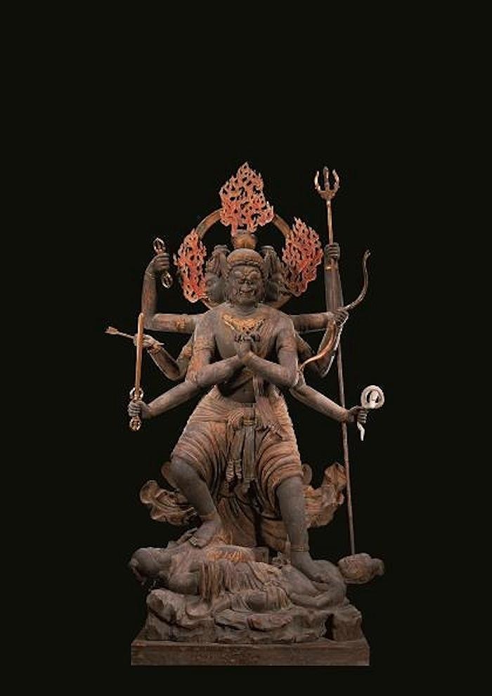 国宝 降三世明王立像 平安時代・承和6年(839) 東寺蔵