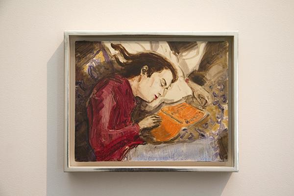 """Kurt Sleeping"" 板に油彩 27.9 x 35.6 cm 1995 Private Collection, New York"