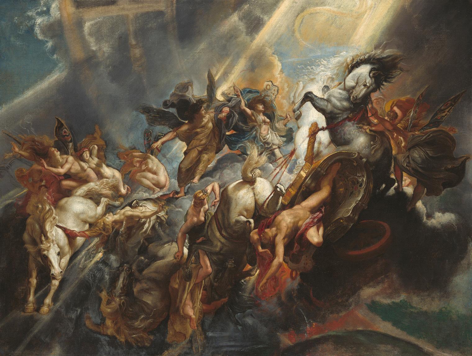 《パエトンの墜落》 ペーテル・パウル・ルーベンス 1604 / 05年 油彩/カンヴァス ワシントン、ナショナル・ギャラリー  National Gallery of Art, Washington, Patron's Permanent Fund, 1990.1.1