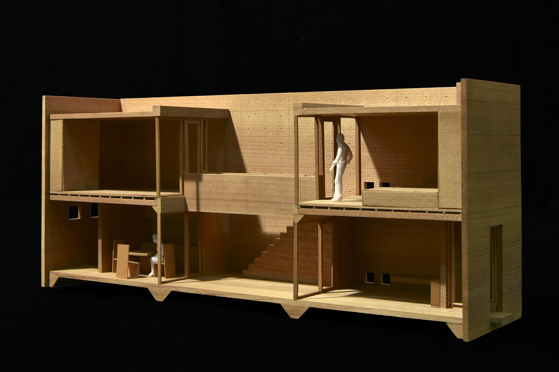 住吉の長屋(大阪市) 模型