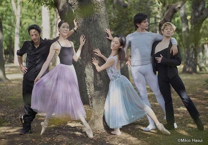 バレエダンサー/写真左より=高橋竜太、 渡辺理恵、 川島麻実子、 ブラウリオ・アルバレス、 高橋慈生