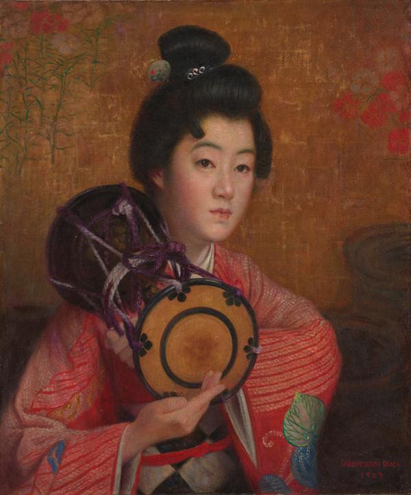 岡田三郎助《婦人像》1907(明治40)年 石橋財団ブリヂストン美術館蔵