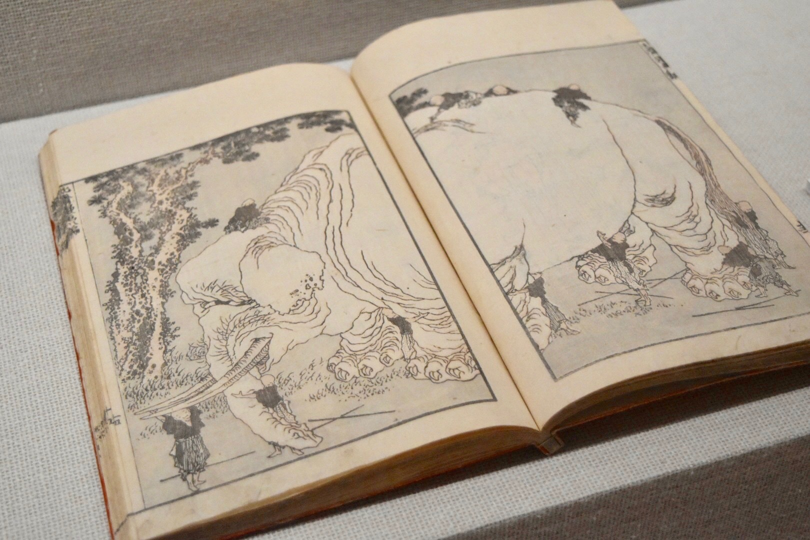 葛飾北斎 『北斎漫画』八編 文政元年(1818)すみだ北斎美術館所蔵