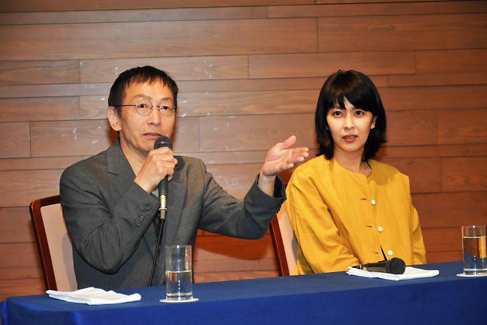 野田秀樹、松たか子  撮影:鳩羽風子