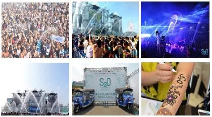 """2万人が熱狂した""""世界一ずぶ濡れになる音楽フェス""""、『S2O JAPAN 2019』会場エリアマップ公開"""