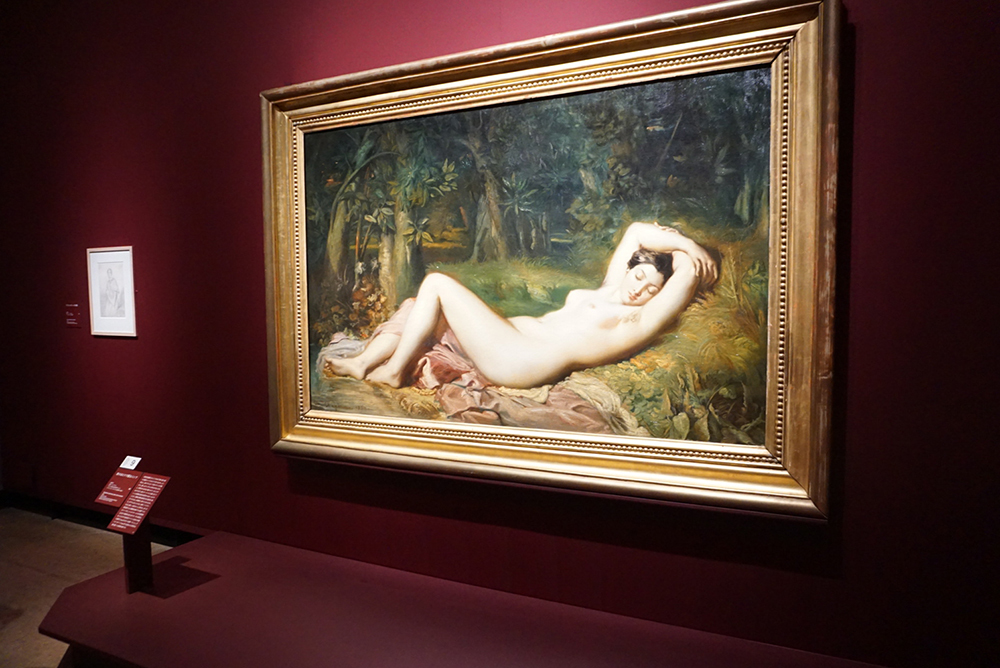テオドール・シャセリオー <泉のほとりで眠るニンフ> 1850年 フランス国立造形芸術センター (アヴィニョン、カルヴェ美術館に寄託)