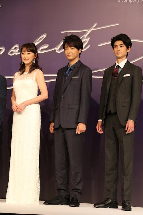(左から)花總まり、井上芳雄、古川雄大