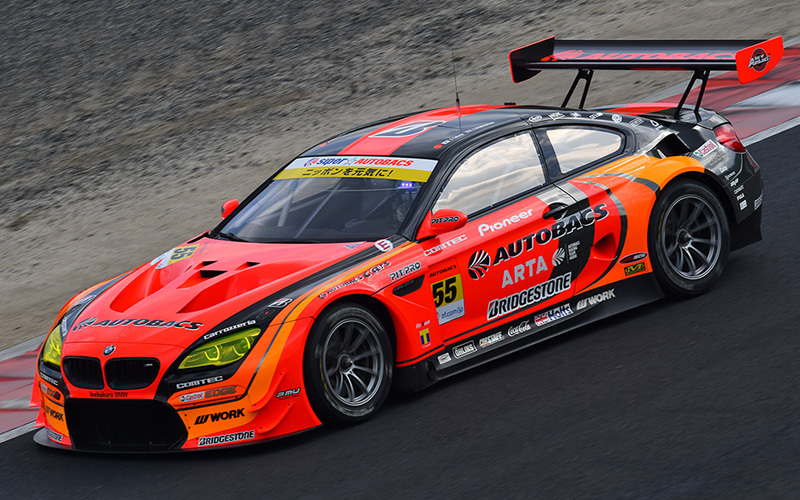 GT300で総合4位につける「AUTOBACS RACING TEAM AGURI」のBMW M6。昨年、総合順位4位だっただけに、狙うは頂点だ