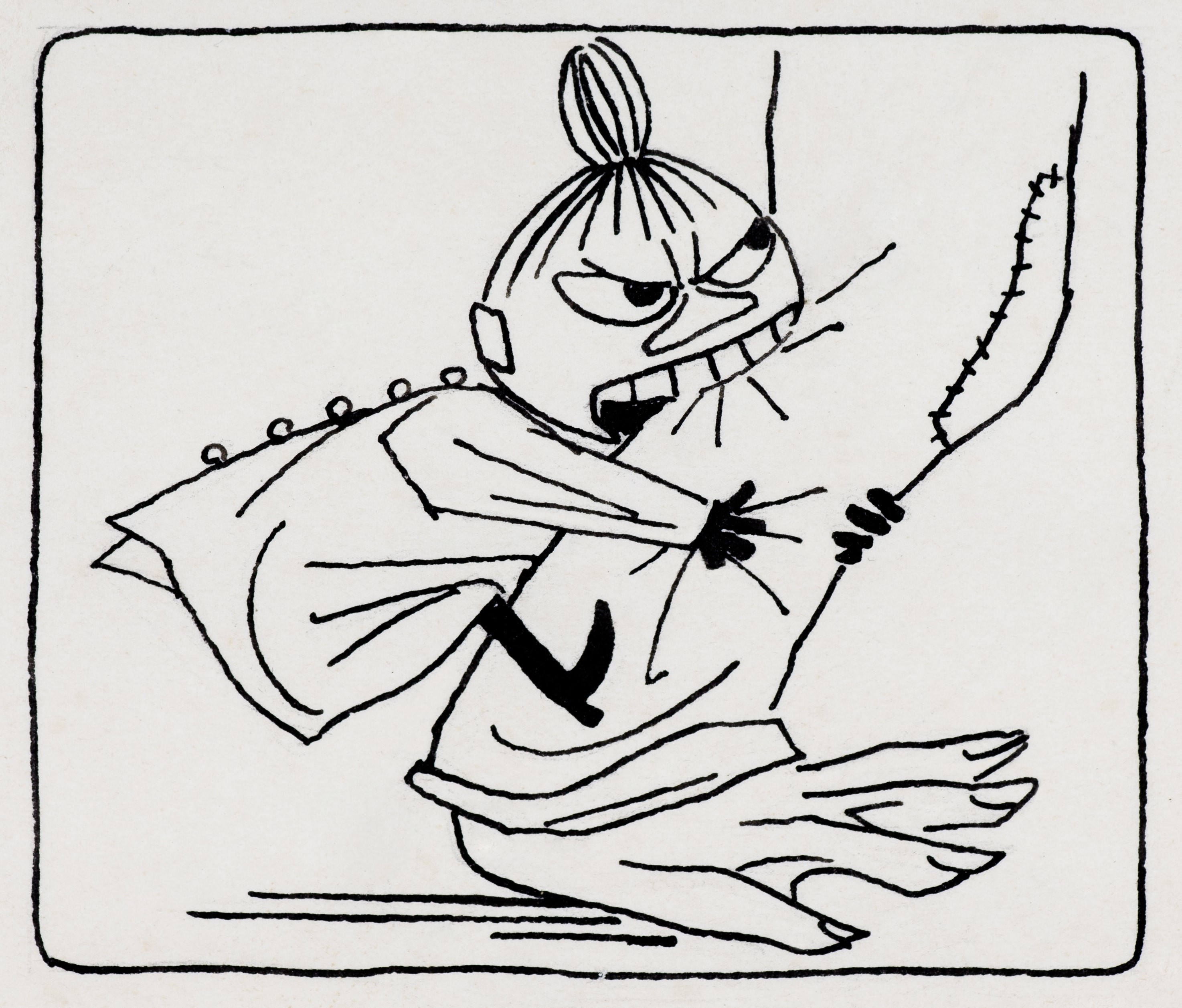 トーベ・ヤンソン≪「ムーミン谷の夏まつり」挿絵≫1954年 インク・紙 ムーミン美術館 (C)Moomin Characters TM