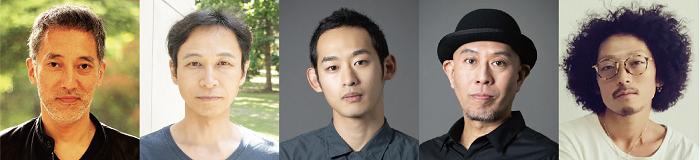(左から)斎藤歩、泉陽二、菊地颯平、納谷真大、山木将平(音楽)