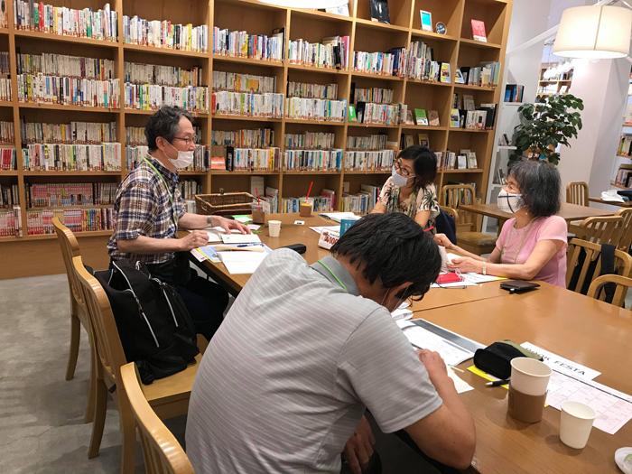 英詩音読会/コロナ後の大阪でのミニイベントより(ブックフェスタ・ジャパン2020でも実施予定)