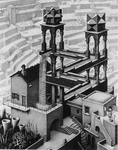 《滝 Waterfall.1961》 Copyright Credit: All M.C. Escher works