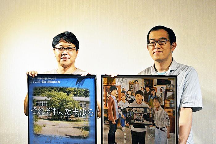 (左から)土田英生(MONO)、上田誠(ヨーロッパ企画)。 [撮影]吉永美和子(人物すべて)