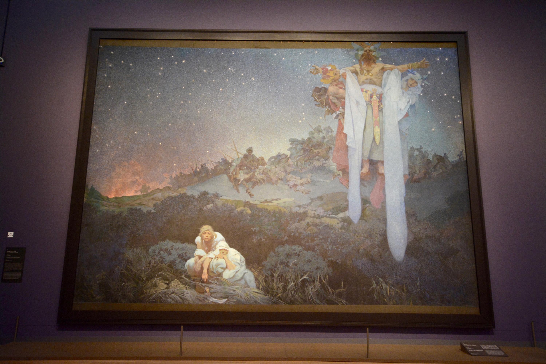 《スラヴ叙事詩「原故郷のスラヴ民族」》 1912年 610×810cm テンペラ、油彩/カンヴァス プラハ市立美術館
