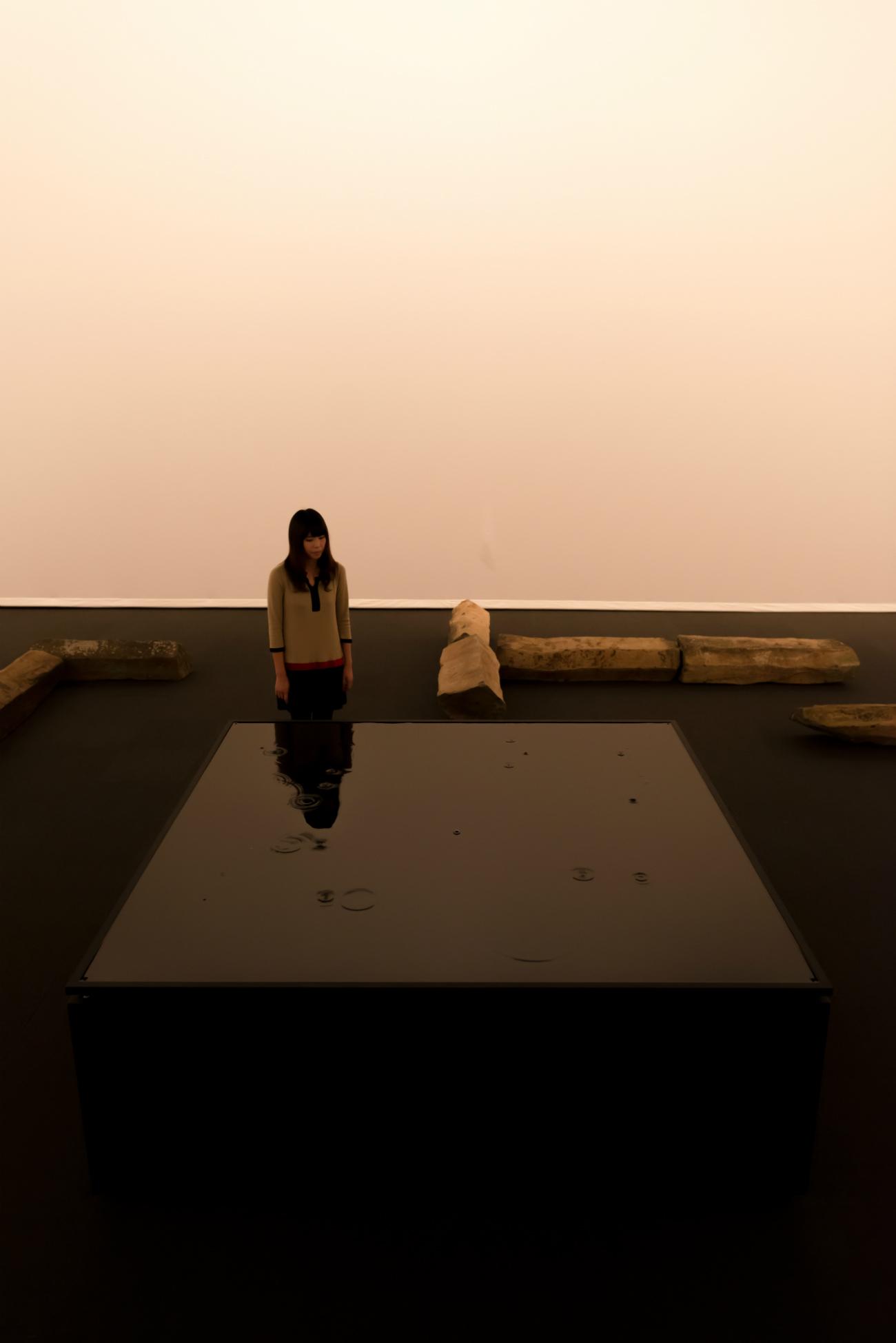 出展作品:坂本龍一+高谷史郎「WATERSTATE 1(水の様態1)」2013年 撮影:丸尾隆一(YCAM)/写真提供:山口情報芸術センター[YCAM]
