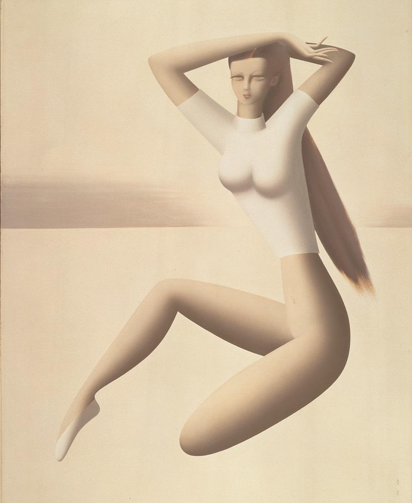 《バレリーナ》、1957年油彩・キャンヴァス、161.0×128.9cm、東郷青児記念 損保ジャパン日本興亜美術館