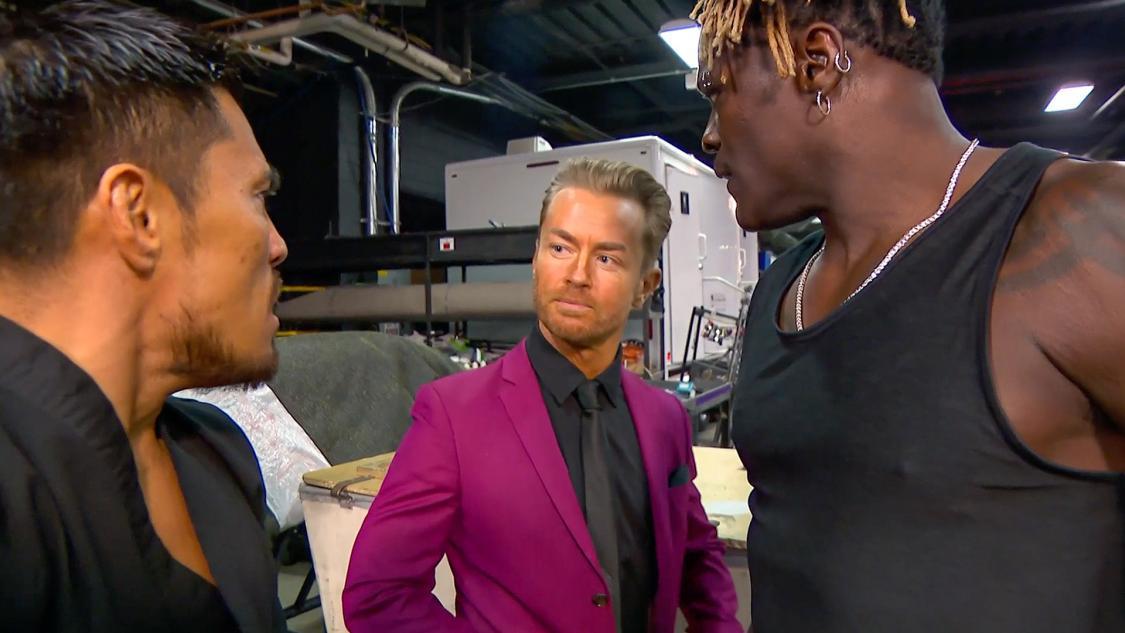 戸澤陽とRトゥルースはマーベリックと口論に ©2021 WWE, Inc. All Rights Reserved