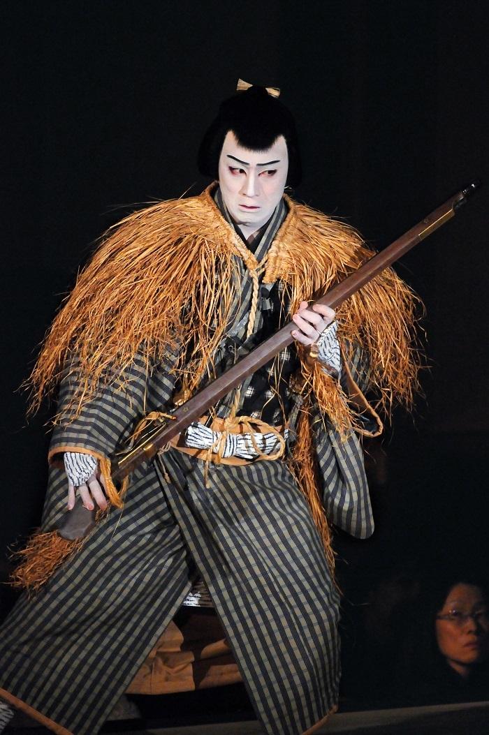 『仮名手本忠臣蔵 五・六段目』早野勘平=松本幸四郎(平成25年12月歌舞伎座)