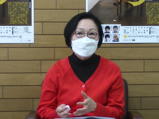 オフィスコットーネプロデュース『母 MATKA』母を演じる増子倭文江。