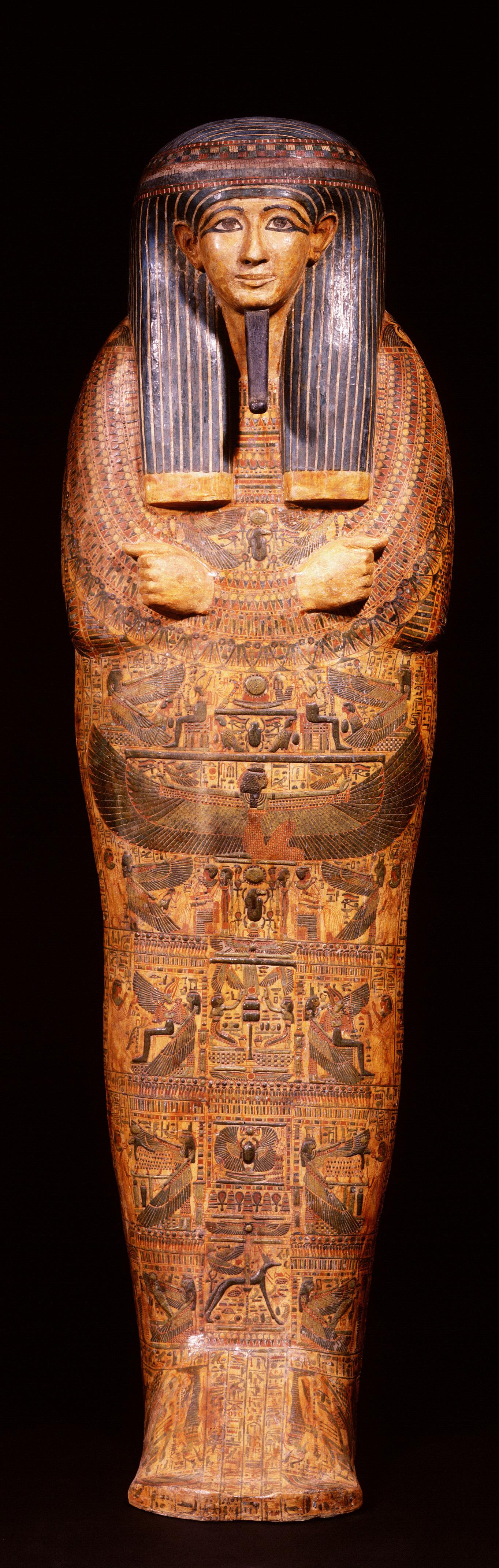『ライデン国立古代博物館所蔵 古代エジプト展』「アメンヘテプの内棺」