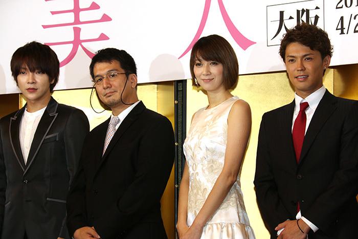 (左から)ユナク(超新星)、岡本貴也、凰稀かなめ、清水良太郎