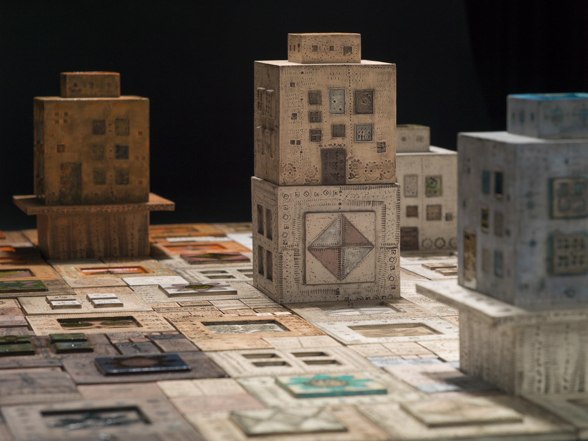 《都市》(部分)1958年、タピオ・ヴィルカラ ルート・ブリュック財団蔵 Tapio Wirkkala Rut Bryk Foundation's Collection / EMMA – Espoo Museum of Modern Art  (C)KUVASTO, Helsinki & JASPAR, Tokyo, 2018 C2531